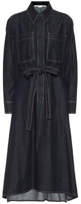 Stella McCartney Denim midi shirt dress
