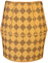 Diamond jacquard tulip skirt