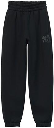 Alexander Wang Stretch Cotton Slim Sweatpants W/ Logo