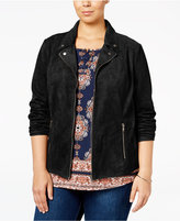 Style&Co. Style & Co. Plus Size Faux-Suede Jacket, Only at Macy's