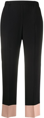 No.21 Contrast Hem Trousers