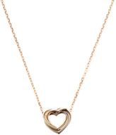 Cartier Vintage 18K Tri-Tone Gold Trinity Heart Necklace