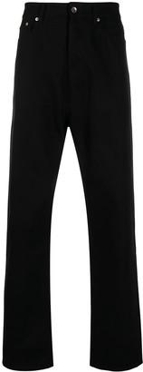 Rick Owens High-Rise Dropped-Crotch Jeans