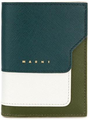 Marni Colour-Blocked Logo Wallet