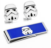 Star Wars STARWARS Storm Trooper Cuff Links & Money Clip Gift Set