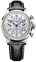 Baume & Mercier Capeland 10006 Flyback Stainless Steel & Alligator Strap Chronograph Watch