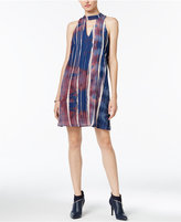 Bar III Printed Cutout Shift Dress, Only at Macy's