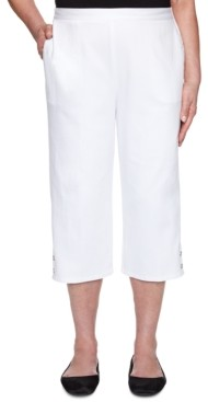 Alfred Dunner Petal Pushers Denim Capri Pants