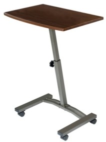 Seville Classics Mobile Laptop Desk Cart With Side Table