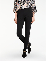 Somerset by Alice Temperley Ponte Stud Trim Leggings, Black