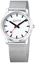 Mondaine 'Simply Elegant' Mesh Strap Watch, 41mm