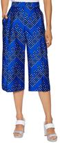 Diane von Furstenberg Stanton Wool Wide Leg Crop Pant