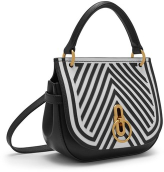Mulberry Small Amberley Satchel Black and White Patchwork
