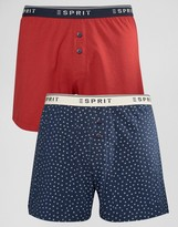 Esprit Boxers 2 Pack in Star Print