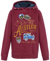 Fat Face Boys' Adjust Altitude Hoodie, Red