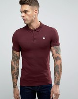 Asos Muscle Jersey Polo Shirt With Logo In Pink