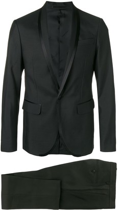 DSQUARED2 silk trimmed dinner suit