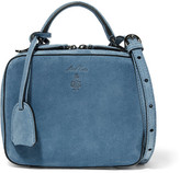 Mark Cross Laura Baby Suede Shoulder Bag - Blue