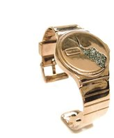 Husam el Odeh 18ct Goldplated Crystal Cracked Watch Cuff