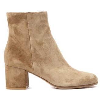 Gianvito Rossi Camel Suede Ankle Boots