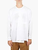 Marni White Cotton Collarless Shirt