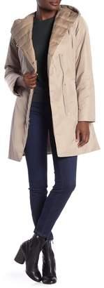 Tahari Kourt Mixed Media Hooded Jacket