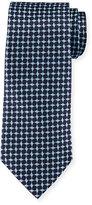 Armani Collezioni Geometric Box-Printed Silk Tie