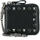 Valentino Garavani Valentino - small Rockstud Rolling wallet - men - Leather/metal - One Size