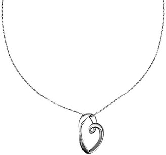 """Sterling Polished Open Heart Pendant with 18"""" Chain"""