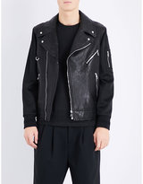 Neil Barrett Bonded Leather Biker Jacket