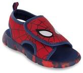 Licensed Spiderman Toddler Boys' Flip Flop Open Covered Footbed Sandals - Red