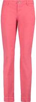 7 For All Mankind Roxanne Cotton-Blend Slim-Leg Pants