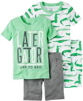 Carter's Baby Boy 4-pc. Tee & Shorts Pajama Set