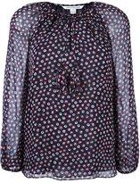 Diane von Furstenberg dotted print blouse