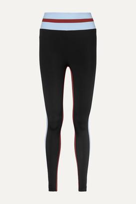 Vaara Faye Thermal Tuxedo Striped Stretch Leggings - Black