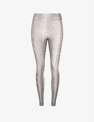 Koral Drive snake-print high-rise stretch-jersey leggings