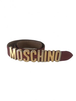 Moschino Burgundy Leather Belts