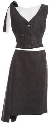 Prada Grey Wool Top for Women
