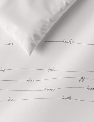 Marks and Spencer Embroidered Cotton Bedding Set