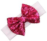 Headband,Laimeng,Fashion Elastic Children Headband Cute Sequins Bow Baby Girl Hair Accessories (K)