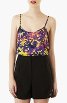 Topshop Fluorescent Camouflage Print Camisole