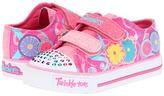 Skechers Shuffles - 10282N Lights (Toddler) (Neon Pink/Multi Trim) - Footwear