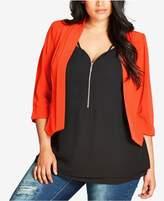 City Chic Trendy Plus Size Cropped Blazer