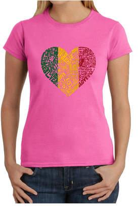 Women Word Art T-Shirt - One Love Heart