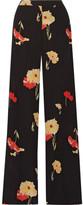 Etro Printed Silk-crepe Wide-leg Pants - Black