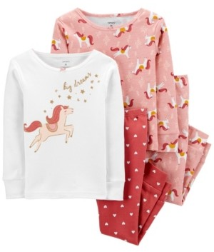 Carter's Baby Girl 4-Pc. Horse Snug Fit Cotton Pajamas