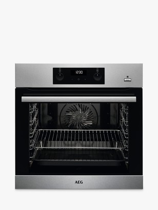 AEG SteamBake BES355010M Single Built-In Electric Steam Oven, A Energy Rating, Stainless Steel