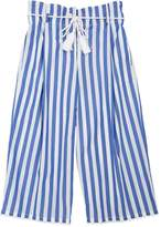 Ermanno Scervino Striped High Waist Cotton Pants