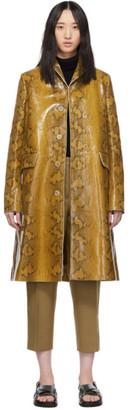 Marni Tan Snake Print Coat