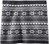 Joe Fresh Kid Girls' Fair Isle Knit Skirt, Charcoal Mix (Size M)